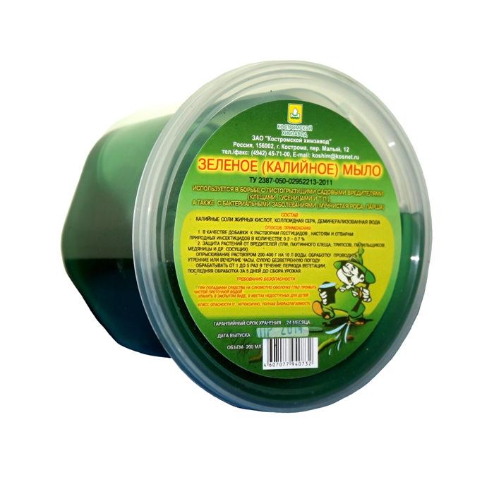Зеленой калийное мыло