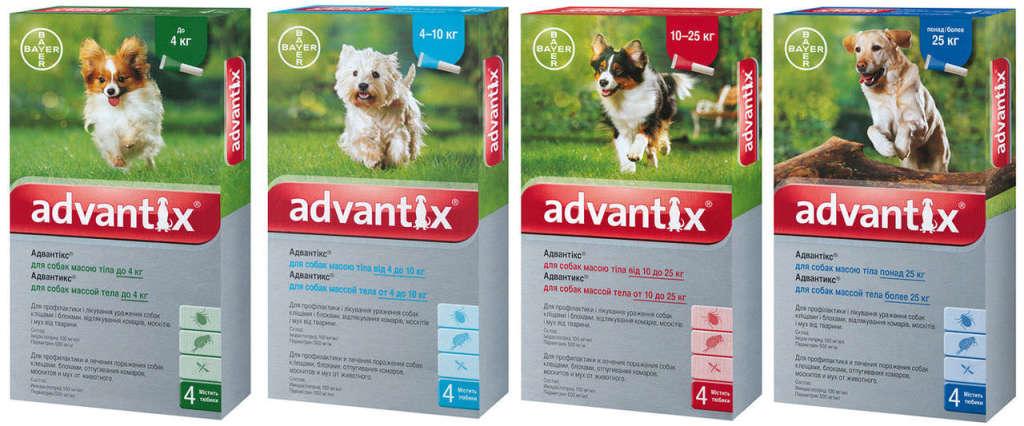 Капли на холку Bayer Advantix (Байер Адвантикс) — Германия