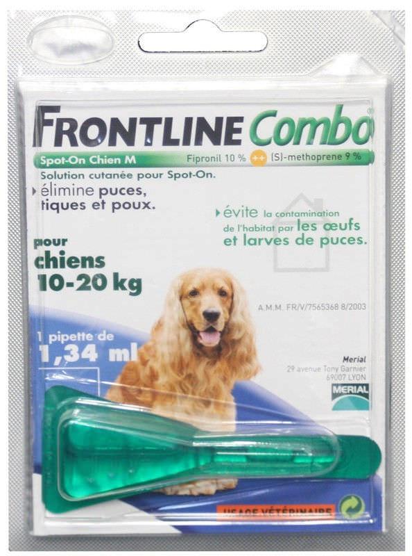 Капли Merial Frontline Combo (Фронтлайн Комбо) — Франция